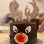 Rudolph The Red Nose Reindeer cake making and decorating
